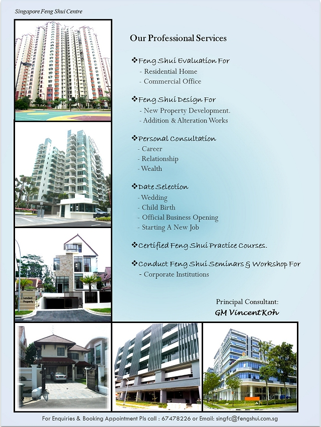 Singapore Feng Shui Services & Fees 2016